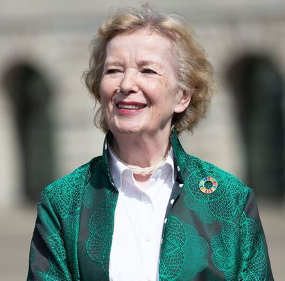 Mary Robinson is one of the most influential figures in Irish politics.