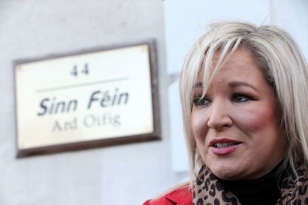 Michelle O\'Neill, the Vice President of Sinn Féin and the Deputy First Minister of Northern Ireland.