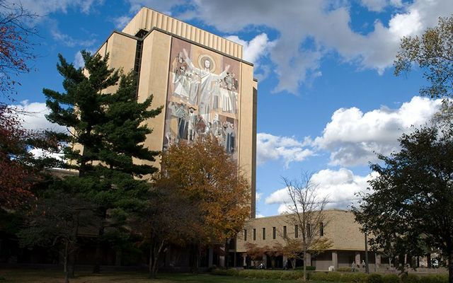 The library at Notre Dame, in Indiana.