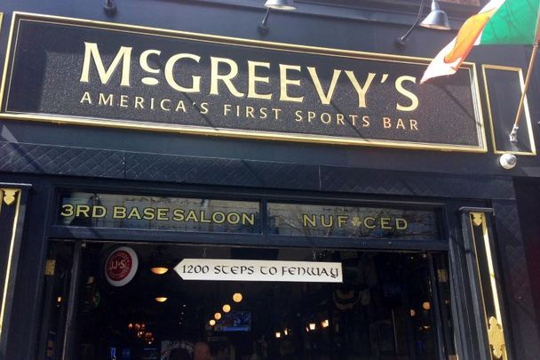 "Owner Ken Casey said McGreevy's Pub was ""Boston's original Baseball bar"" and ""the hang-out for some of our favorite Dropkick Murphys fans."""