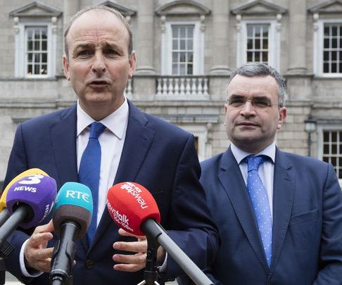 Ireland\'s Taoiseach Micheal Martin and Former Minister for Agriculture Dara Calleary.