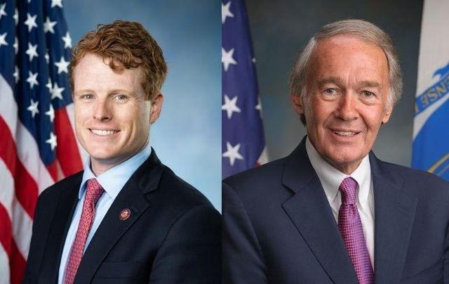 Representative Joe Kennedy, III and Senator Ed Markey.