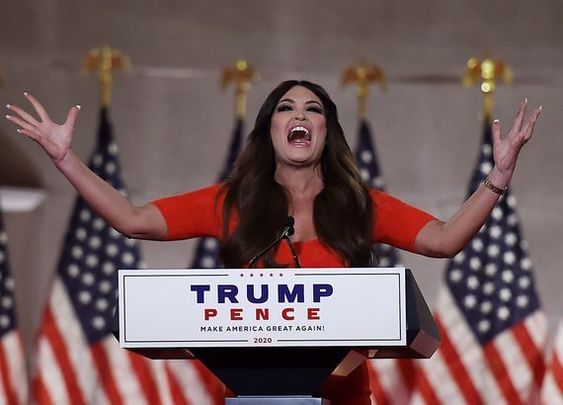 Kimberly Guilfoyle speaking at the Republican National Conference.