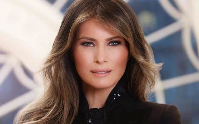 First Lady Melania Trump\'s 2017 official White House portrait.