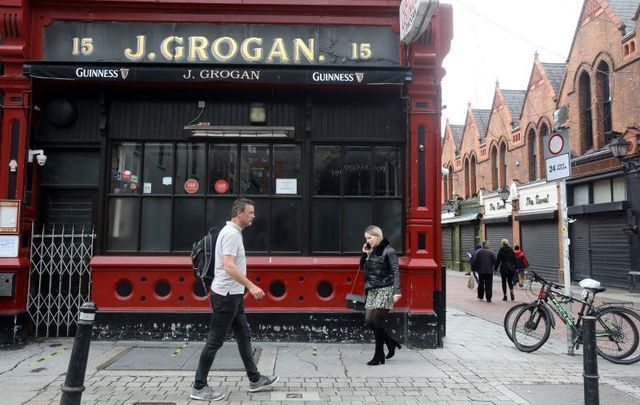 Grogan\'s pub in Dublin, one of thousands of Irish pubs forced to remain closed during the pandemic.