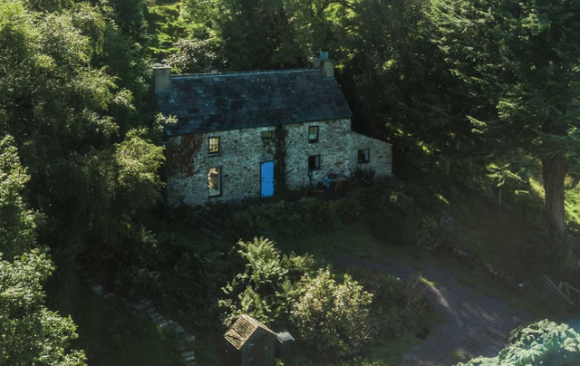 The 200-year-old stone cottage, at Canfie Tuosist, Kenmare, County Kerry.