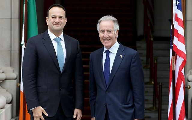 Former Irish Taoiseach (Prime Minister) Leo Varadkar and Congressman Richie Neal, photographed at Ireland\'s government buildings in 2019.