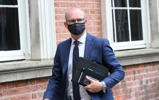 Simon Coveney, pictured here on September 1, 2020, is thought to be the favorite to fill Phil Hogan\'s role.