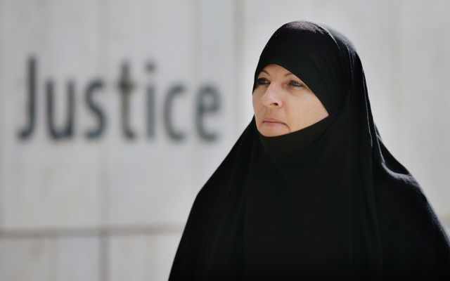 Lisa Smith, charged with membership of the Islamic State terrorist group and with financing terrorism.