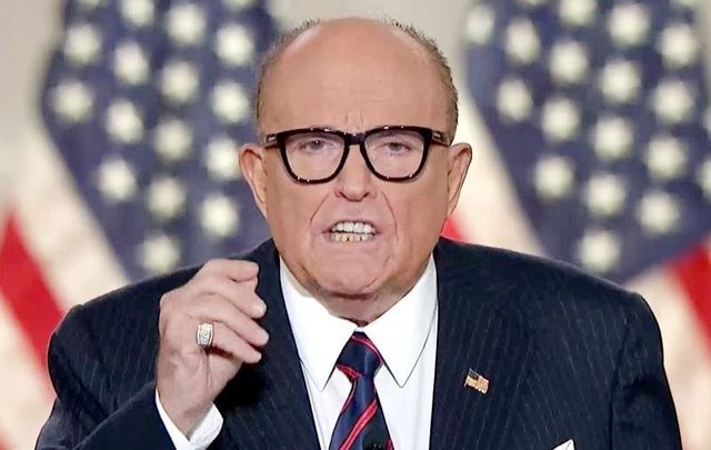 August 27, 2020: Personal attorney to President Donald Trump and former Mayor of New York City Rudy Giuliani addressing the Republican National Convention.
