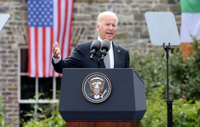 June 24, 2016: Vice President Joe Biden speaking at an event at Dublin Castle, Ireland.