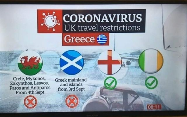 BBC Breakfast represented Northern Ireland with a tricolor when talking about COVID-19 travel restrictions.