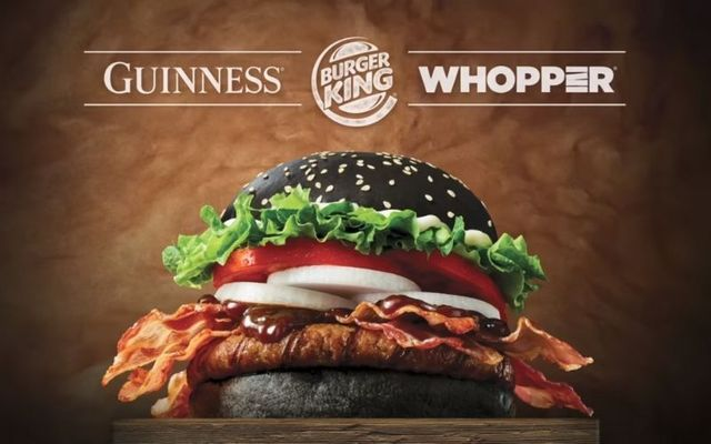 Burger King has teamed up with Guinness to release this mouthwatering burger.
