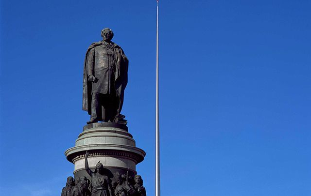 Daniel O\'Connell statue in Dublin.\n