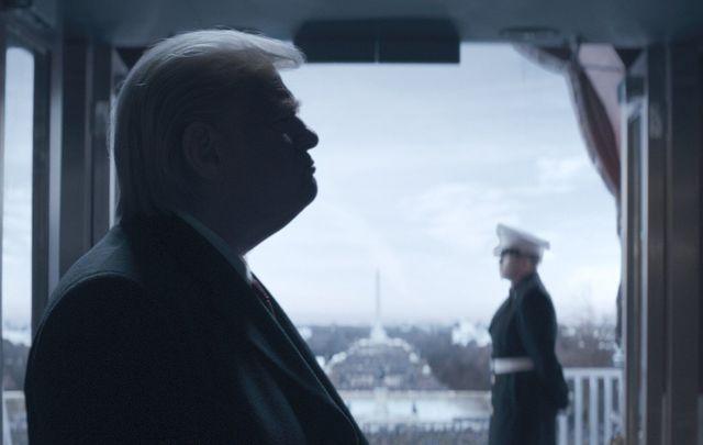 "Brendan Gleeson as Donald Trump in \""The Comey Rule.\"""