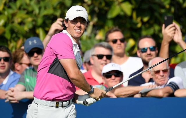 November 24, 2019: Rory McIlroy tees off on the fourteenth during Day Four of the DP World Tour Championship Dubai at Jumeirah Golf Estates in Dubai, United Arab Emirates.