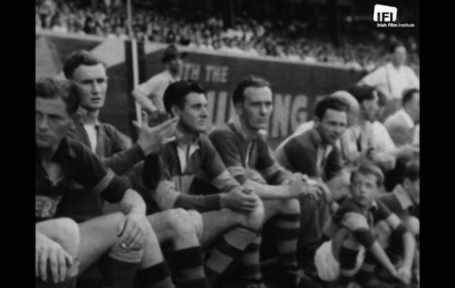 Scenes from the 1947 GAA All-Ireland Football final between Cavan and Kerry that was hosted in New York.