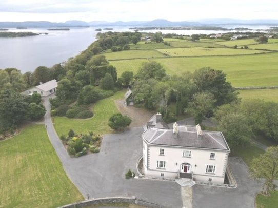 Ballycurrin Demense: A mansion, on land, in Galway, on Lough Corrib. Yes, please invite us on vacation!?