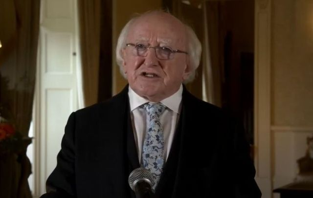 President Michael D. Higgins addresses Irish at home and abroad during the ongoing COVID-19 pandemic.
