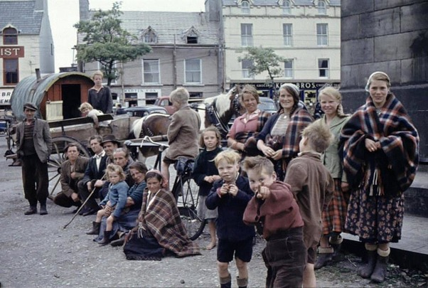 Irish Travellers, Donegal, 1950s.
