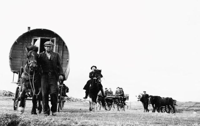 Irish Travellers pictured here in March 1951.