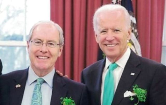 "Former Ambassador Kevin O\'Malley is one of several Irish American co-chairs of ""Catholics for Biden.\"""