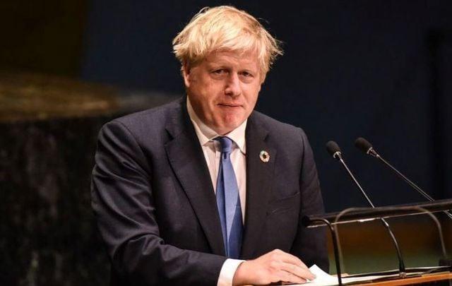 September 24, 2019: British Prime Minister Boris Johnson speaks at the United Nations General Assembly at the United Nations in New York City.