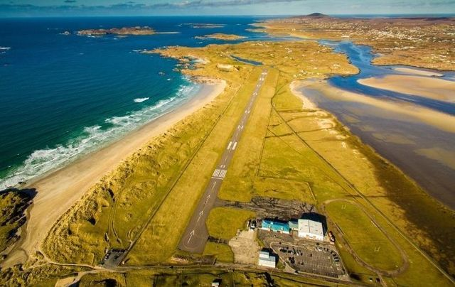 Donegal Airport has been named the most scenic airport in the world for the third year in a row.