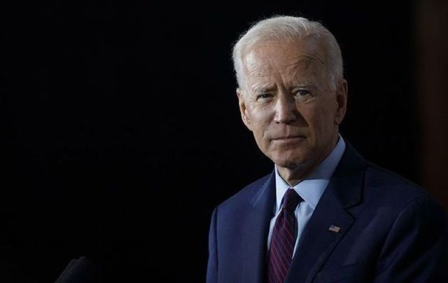 Joe Biden at a campaign press conference on August 7, 2019, in Burlington, Iowa.