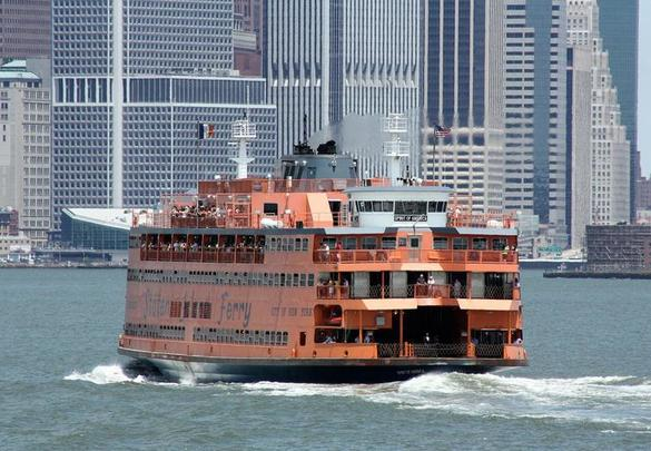 The Staten Island ferry, in New York City.