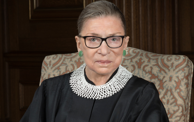 The late great Supreme Court Justice Ruth Bader Ginsburg.