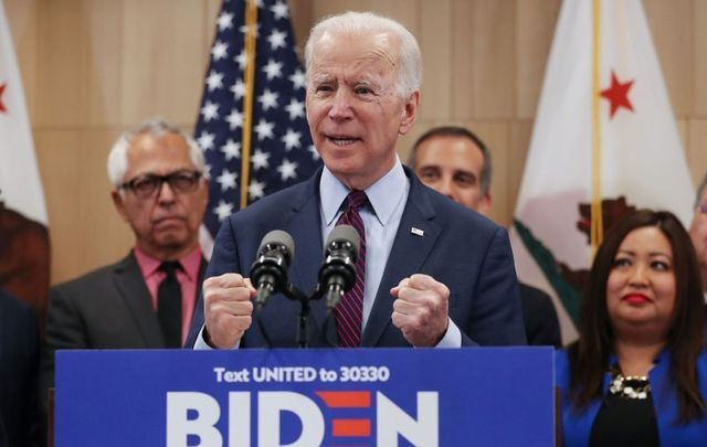 March 4, 2020: Joe Biden addresses supporters at a campaign event at the W Los Angeles hotel in Los Angeles, California.
