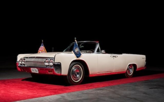 Kennedy rode in the white Lincoln Continental on the morning of his assassination.