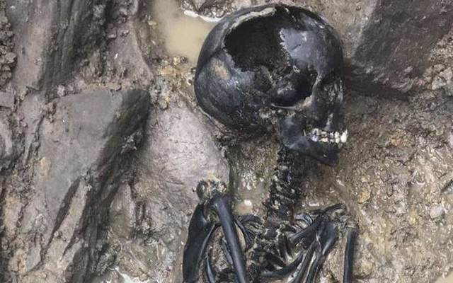 Skeletal remains of a Viking child have been found at a dig site in Dublin.