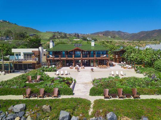 The Broad Beach Malibu home, owned by the Irish James Bond, Pierce Brosnan.