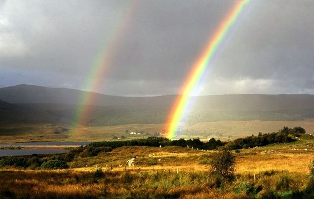 A double rainbow in Dunlewy, Co Donegal.