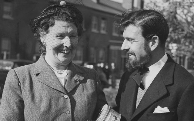 British double agent George Blake with his mother in 1967.