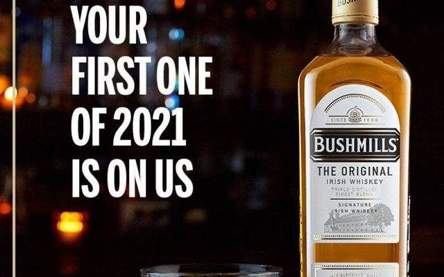 Enjoy a free Bushmills in your local pub by March 18, 2021.