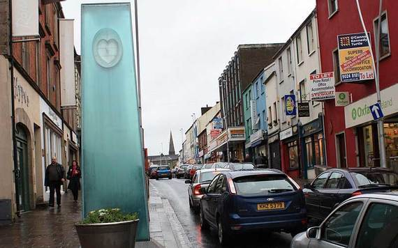 The site of the Omagh Bombing memorial in County Tyrone.