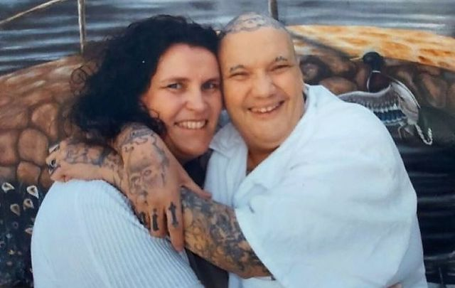 Heike Phelan and her husband William, photographed during one of her visits to the inmate.