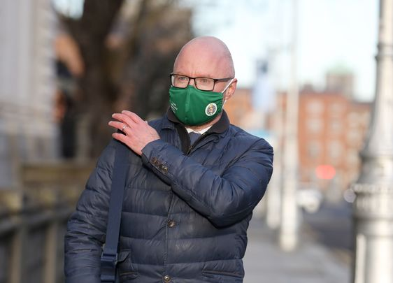 Ireland\'s Minister for Health, Stephen Donnelly, photographed outside government buildings, on Merrion Row.
