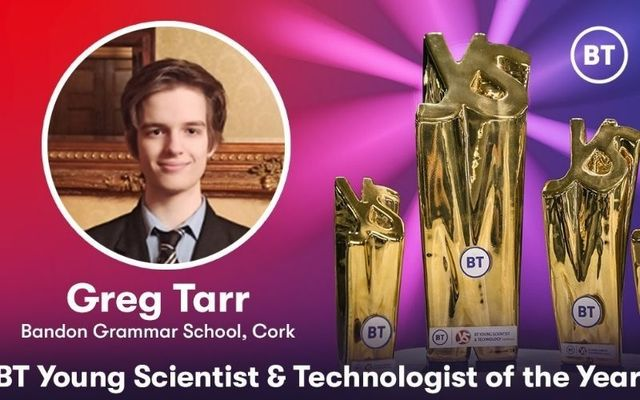 Bandon Grammar School\'s Gregory Tarr impressed the judges with his state-of-the-art technology.