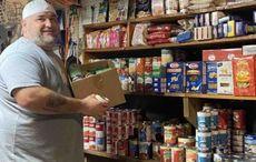 NJ Irish American turns his garage into a food bank for those in need