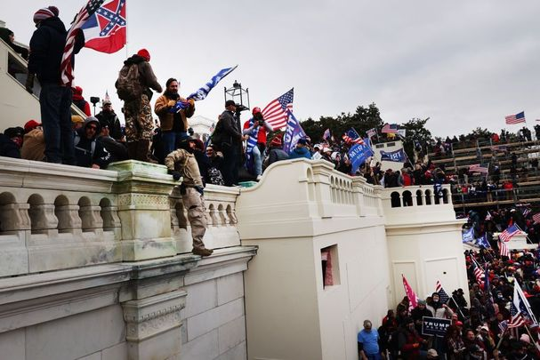 A scene from last week's riot at the Capitol.