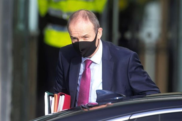 January 13, 2021: Taoiseach Micheal Martin arriving at the Convention Center in Dublin for the start of the Dail where he presented a state apology to the survivors of Ireland\'s Mother and Baby Homes.
