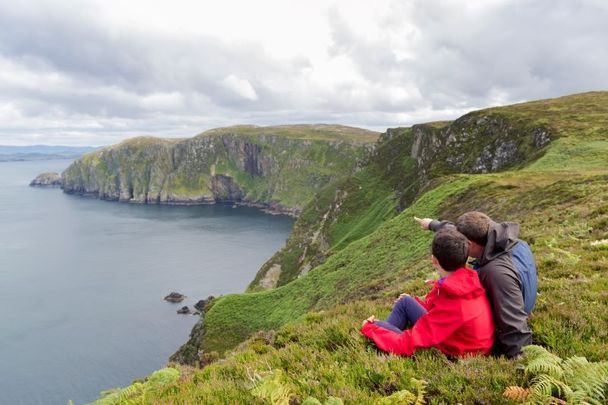 A father and son at Horn Head, Co Donegal.