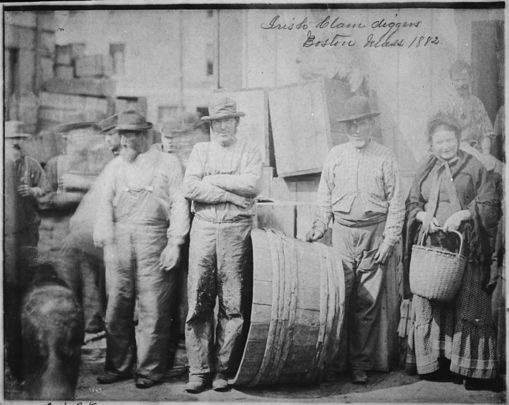 Irish immigrants photographed in 1882.