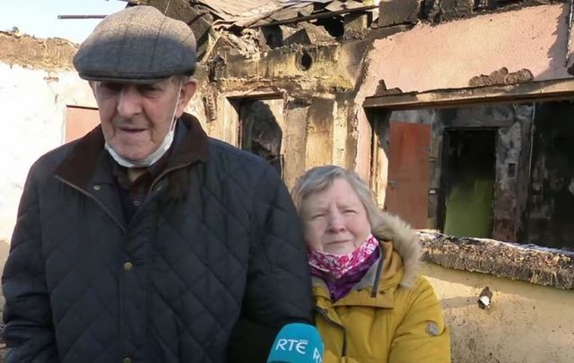 Pat and Attracta Murray barely escaped the blaze with their lives but lost all of their life-long possessions.