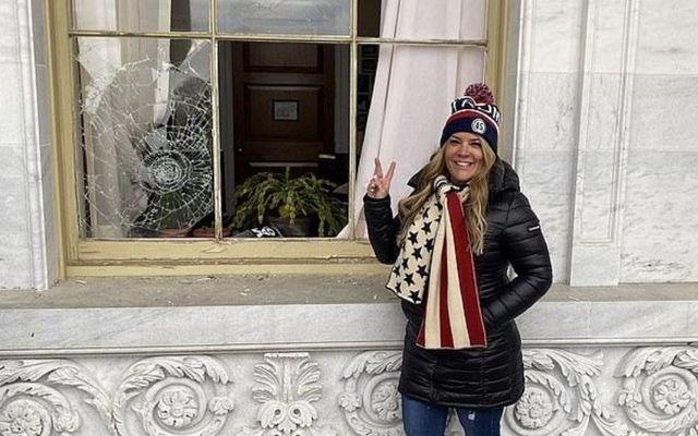 """Jennifer \""""Jenna\"""" Ryan outside the Capitol Building on January 6."""