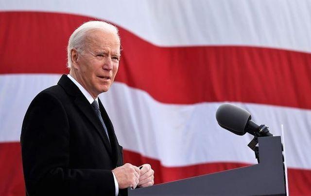 "January 19, 2021: President-elect Joe Biden delivers remarks at the Major Joseph R. \""Beau\"" Biden III National Guard/Reserve Center in New Castle, Delaware."